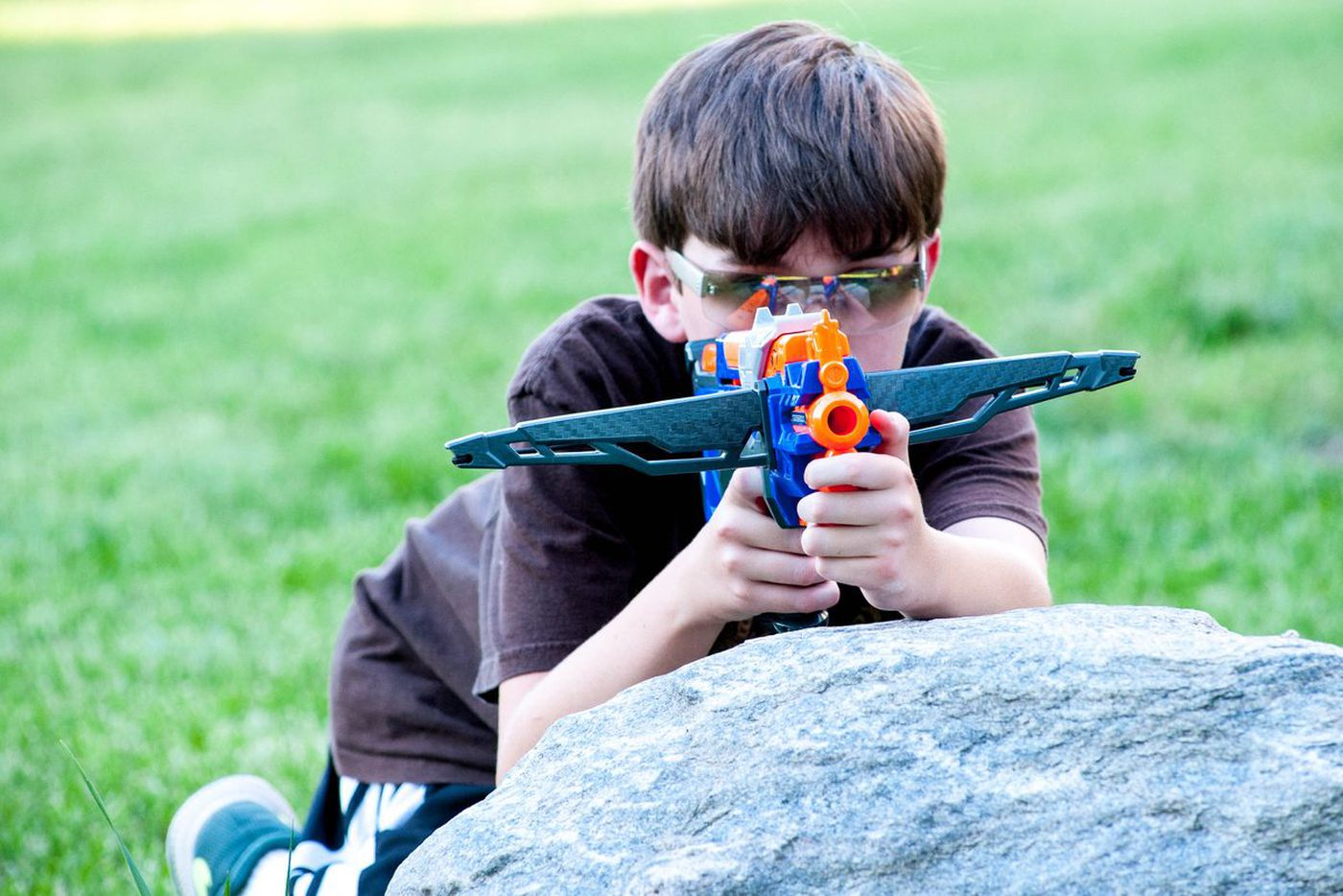 Remember eye safety when playing with projectile toys