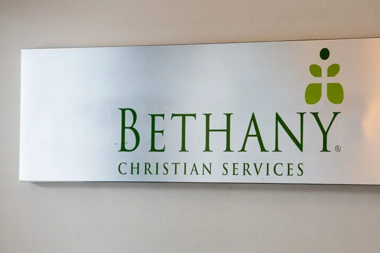 A sign for Bethany Christian Services in Jenkintown. The organization is one of two foster care providers that don't work with LGBT people for religious reasons. JESSICA GRIFFIN / Staff Photographer.