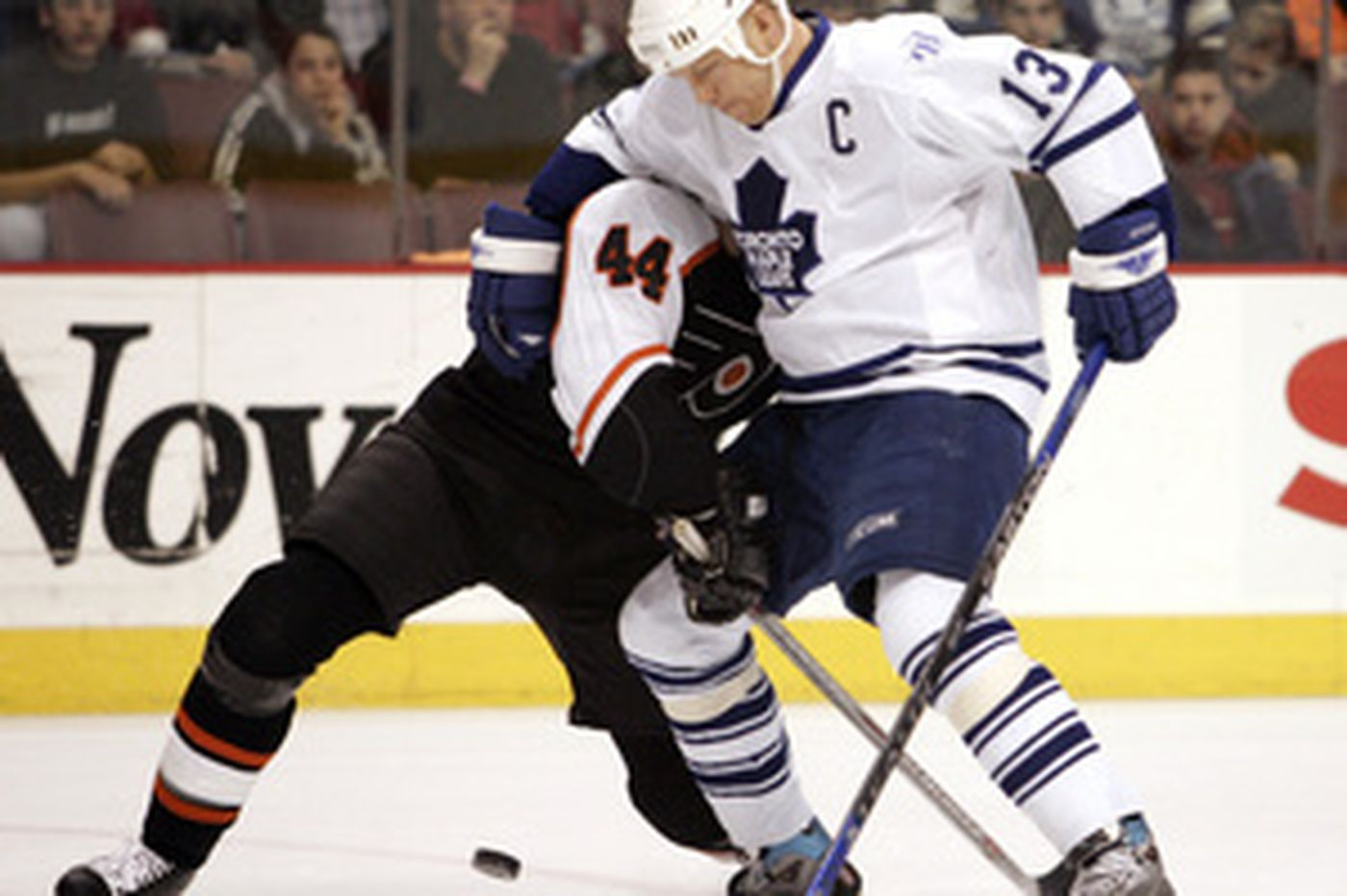 Flyers lose to Leafs, deal Zhitnik to Atlanta
