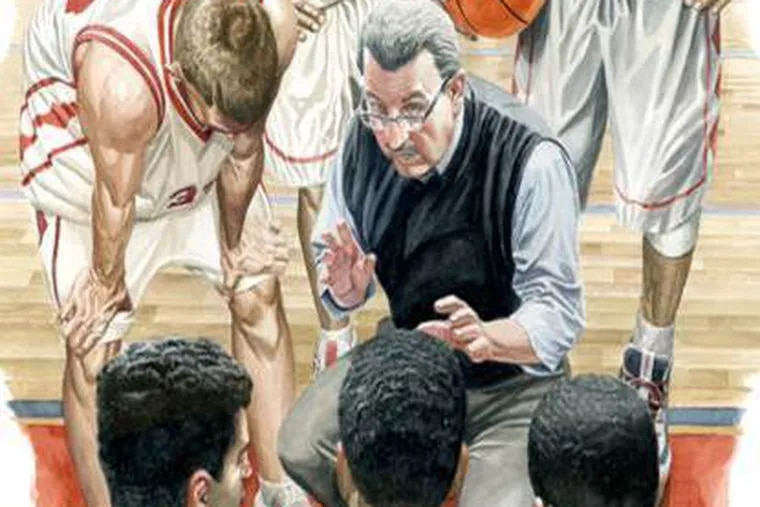 """Jim Fenerty, former Germantown Academy basketball coach, is featured in """"Rare Reflections,"""" a series of portraits by Philadelphia graphic artist and comic-book illustrator Jeff Jones to raise awareness of a group of blood disorders known as MPNs."""