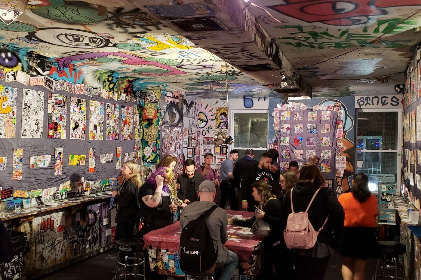 Sticker art is an 'international phenomenon,' as seen at this Tattooed Mom exhibit