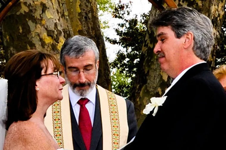 Sheila Kerrigan and Christopher Strack were married October 23, 2010 in North Wales. (K&S Wedding Videos & Photography)