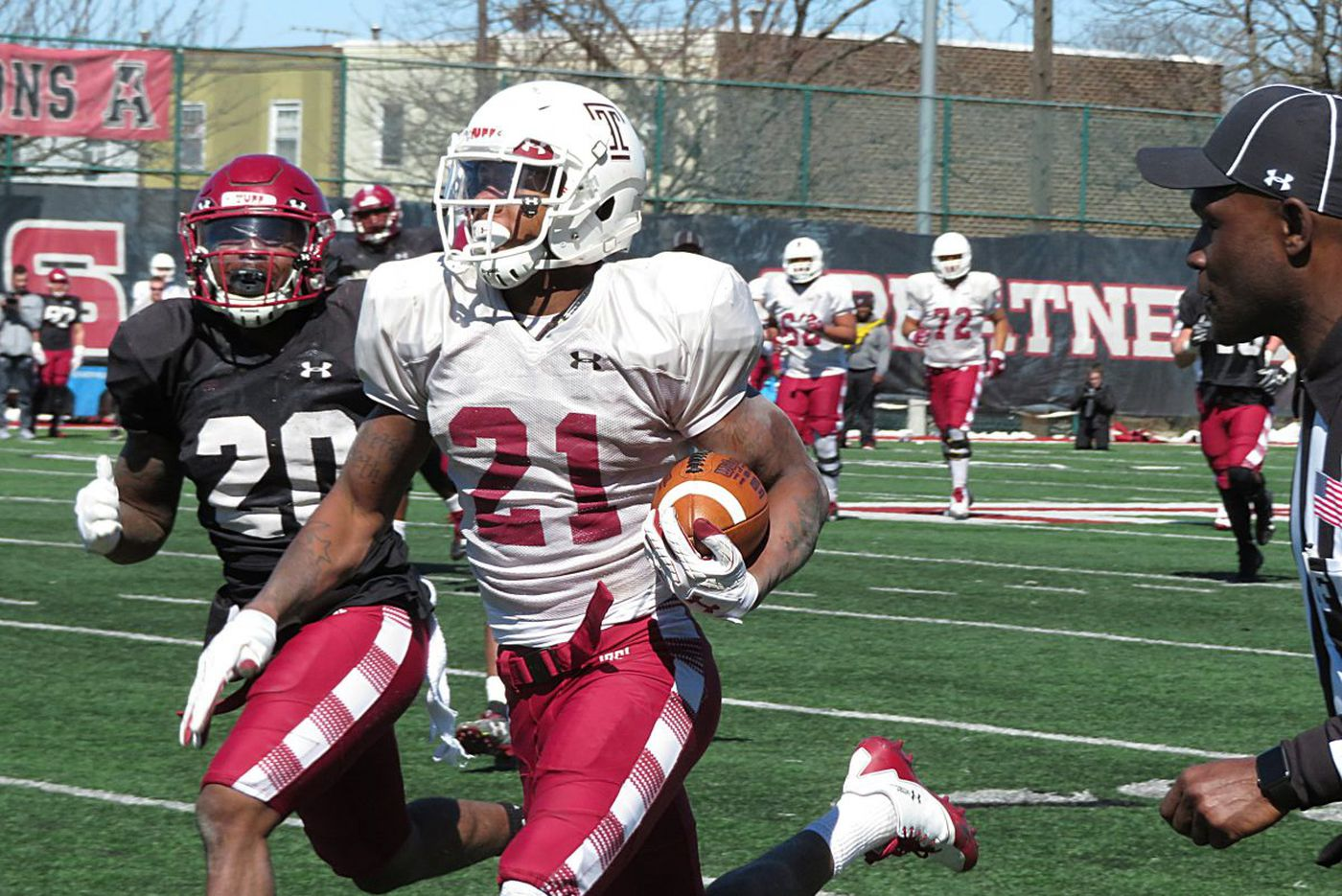 Temple developing two-way players during spring practice