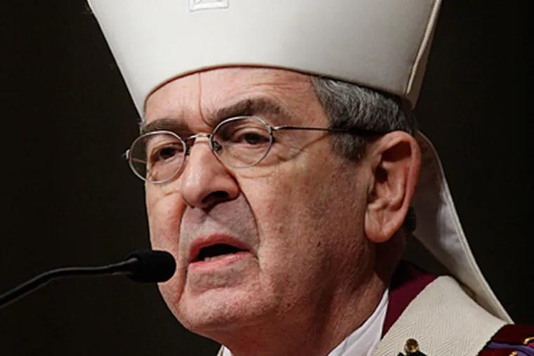 Cardinal Justin Rigali. (Matt Rourke / Associated Press)