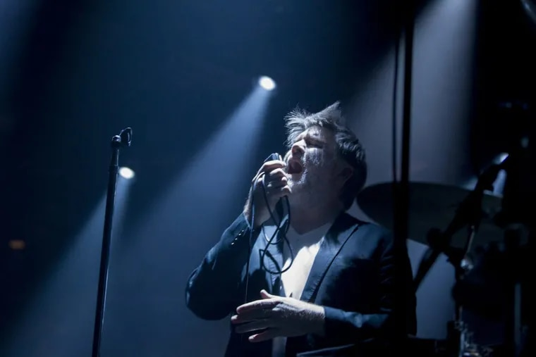 LCD Soundsystem is playing the first of three sold out shows at the Fillmore on Dec. 5, 2017. James Murphy, the lead singer is shown. CHARLES FOX / Staff Photographer