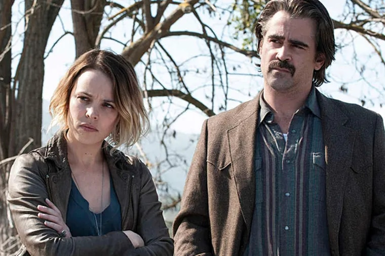 """Rachel McAdams and Colin Farrell star in Season 2 of HBO's """"True Detective"""" (LACEY TERRELL)"""