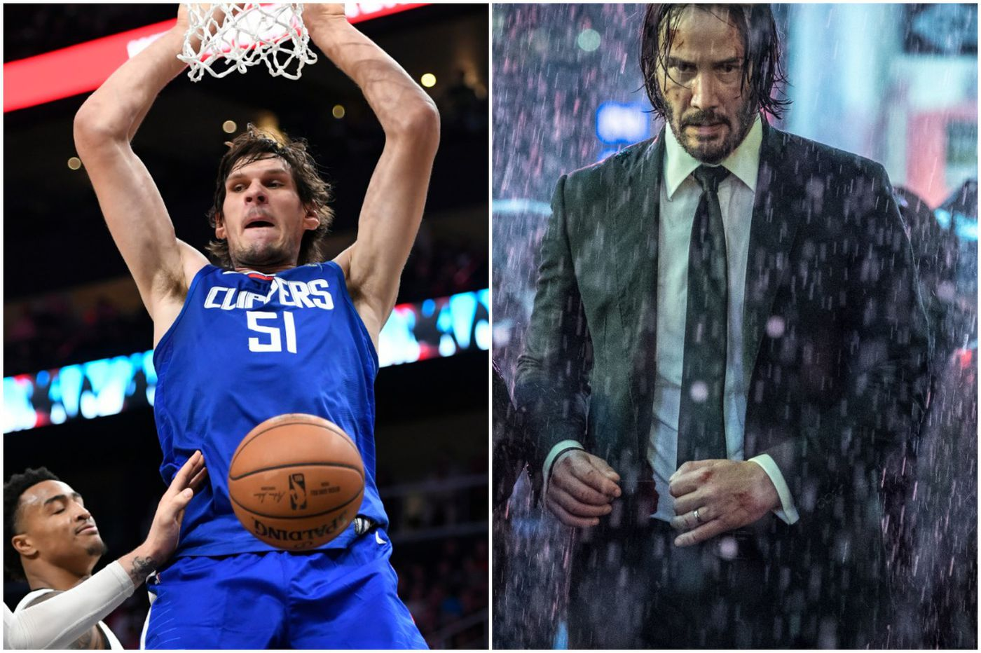 Sixers new center Boban Marjanovic gets book-stomped in 'John Wick 3'