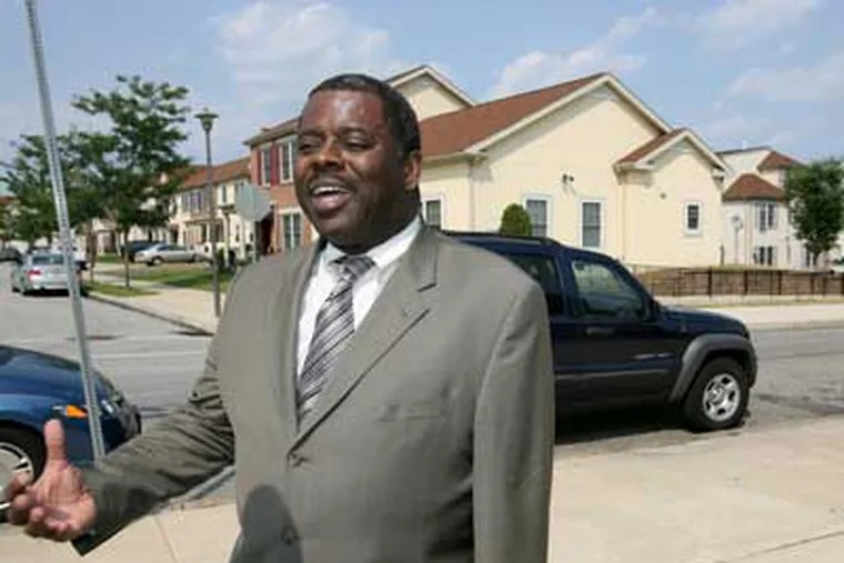 Carl R. Greene, executive director of the Philadelphia Housing Authority speaking with reporters last week.   (Charles Fox / Staff Photographer)