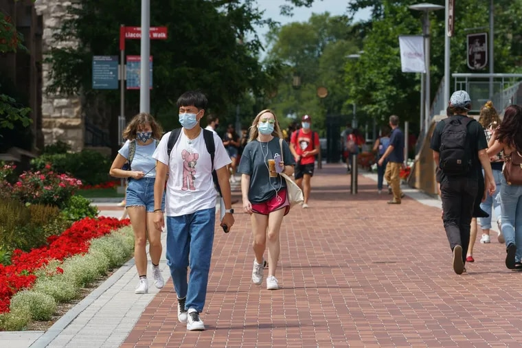 Temple University started classes on Monday and is now suspending all in-person instruction through at least Sept. 11.