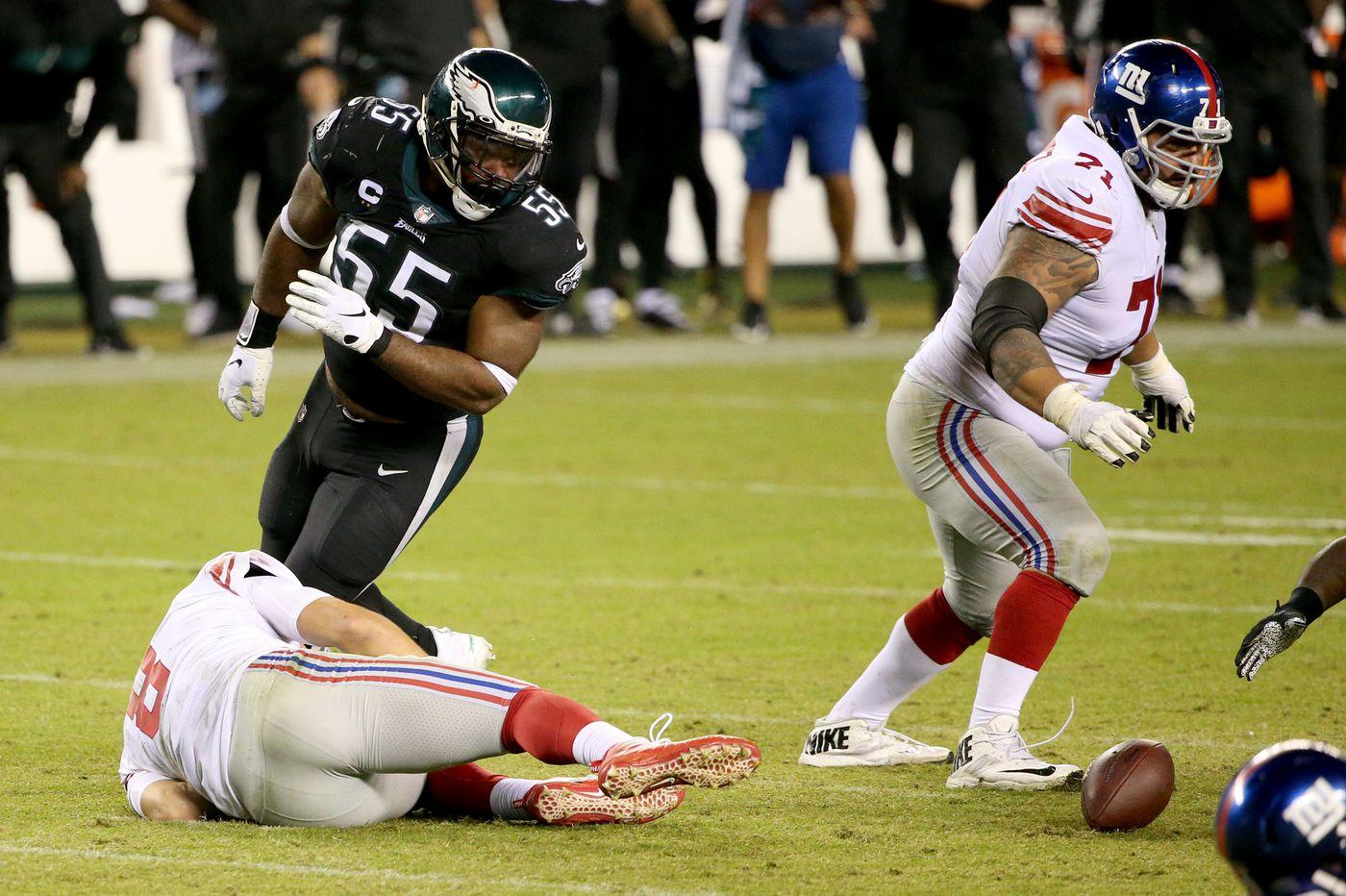 Eagles end Brandon Graham is finding quarterbacks less slippery this season