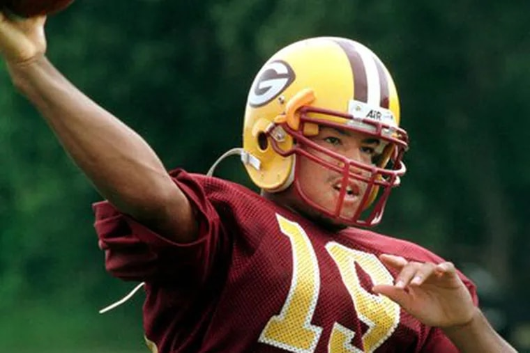 Sakeen Wright at Glassboro in 2000. The 26-year-old Wright mainly played linebacker for Cleveland of the Arena Football League. The 2009 season layoff won't be his first life test.