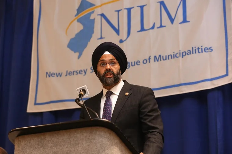Gurbir Grewal, NJ Attorney General, speaks during the New Jersey State League of Municipalities Mayor's Box Luncheon in Atlantic City earlier this month.