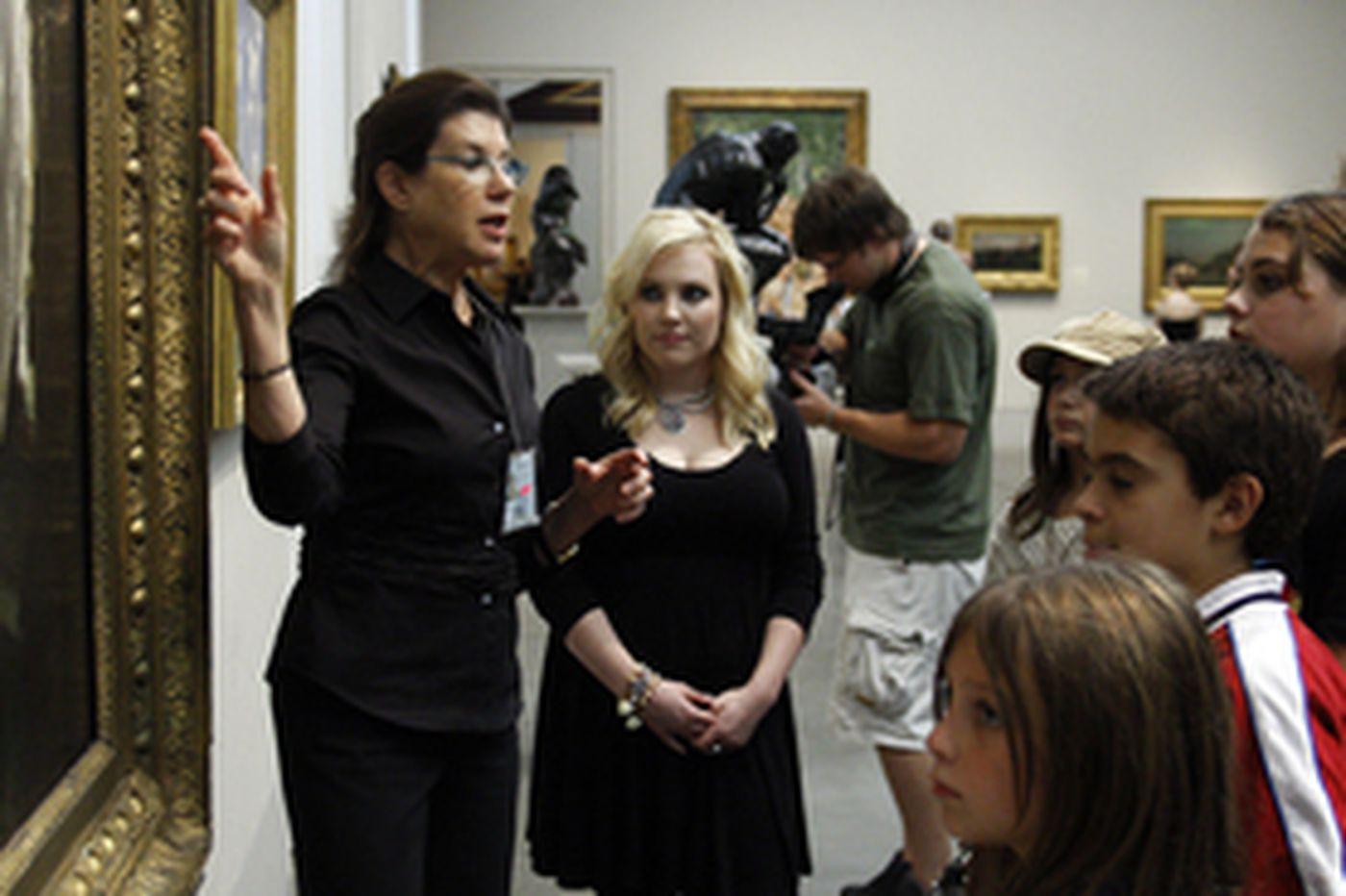 Meghan McCain visits Art Museum