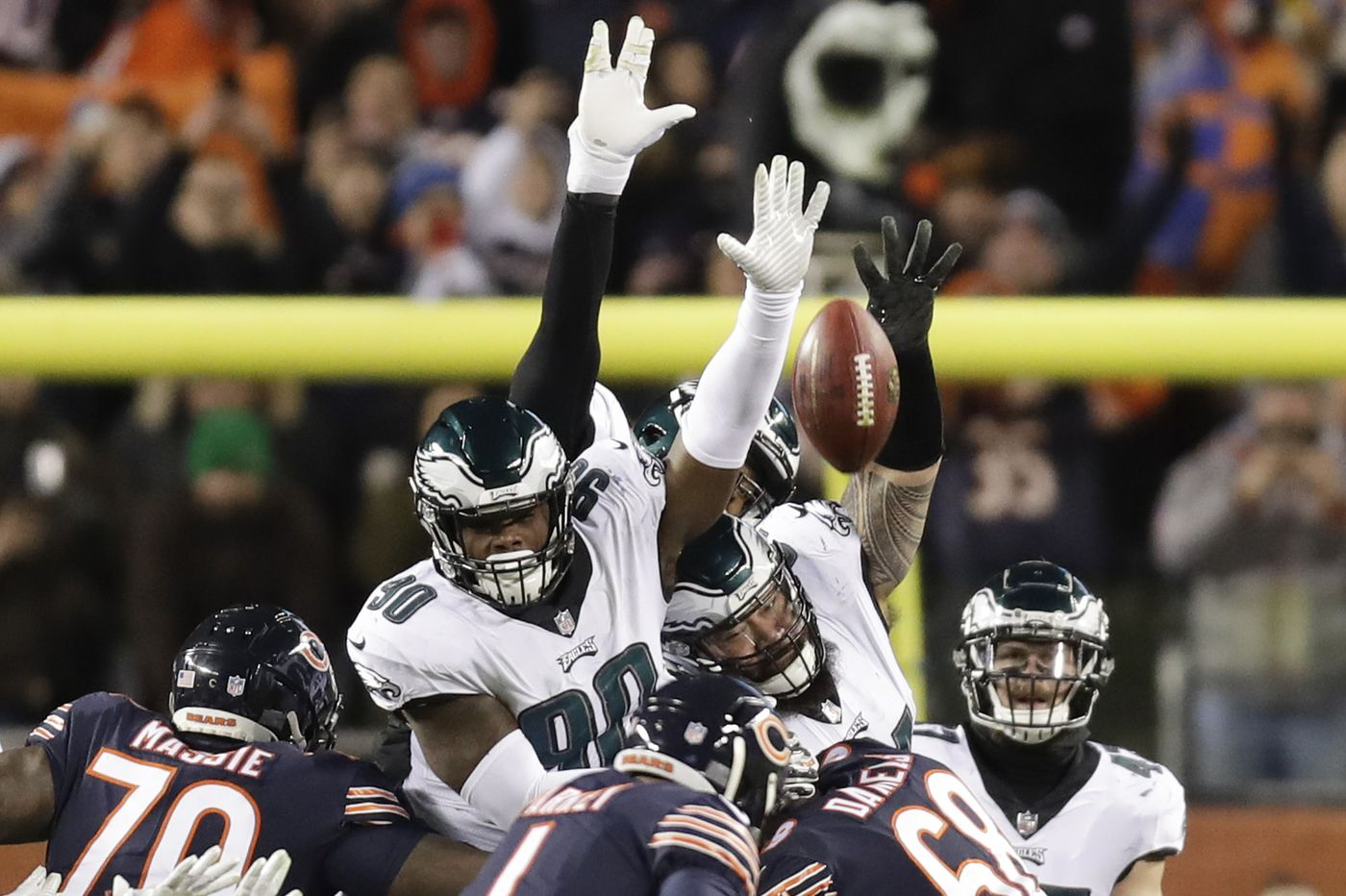 Eagles 'bearly' escape Chicago to play another day: The front pages