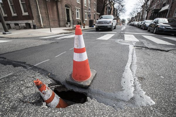 People are asking Domino's Pizza to fix Philly's potholes