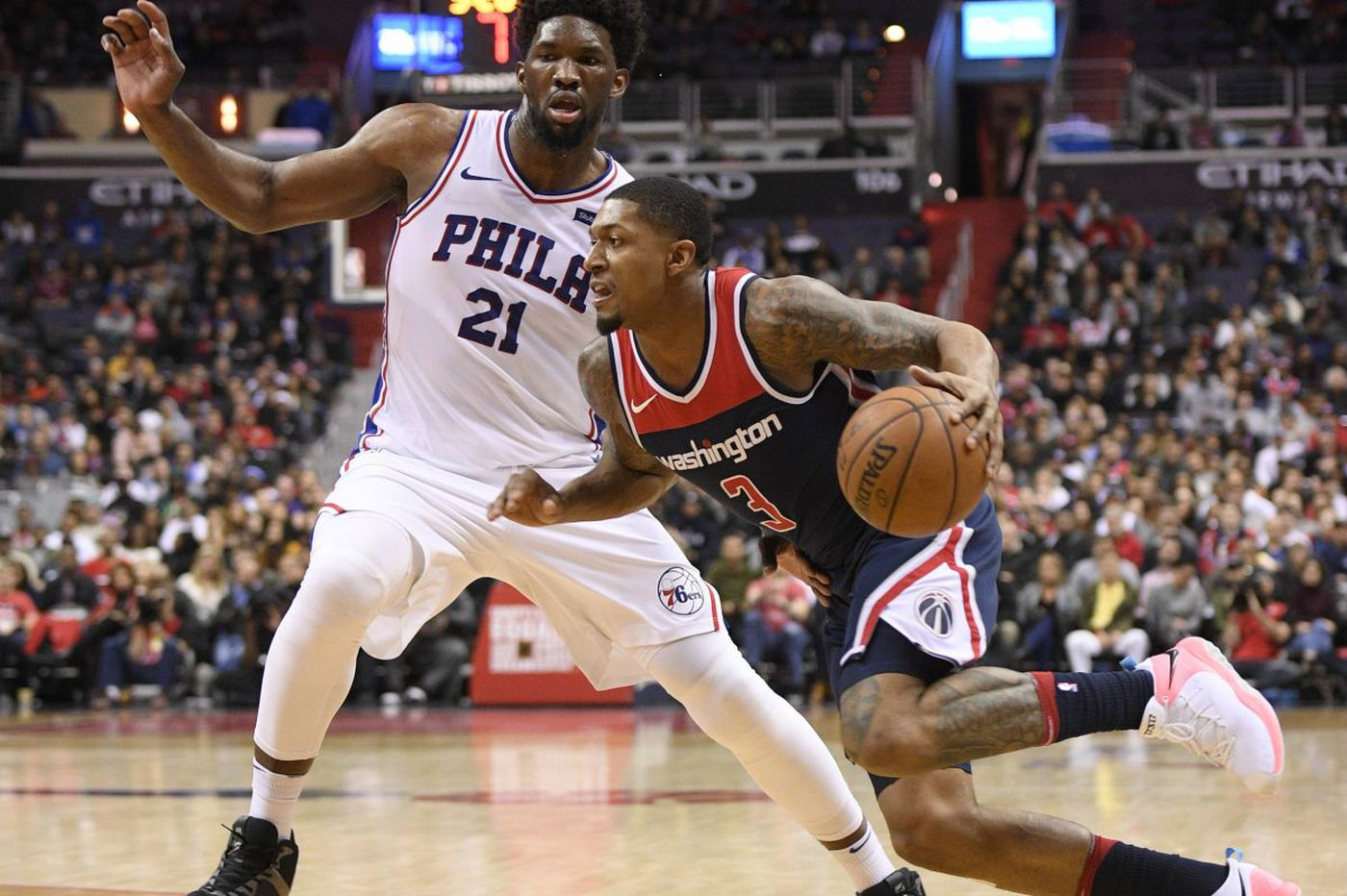Wizards end Sixers' winning streak at seven games