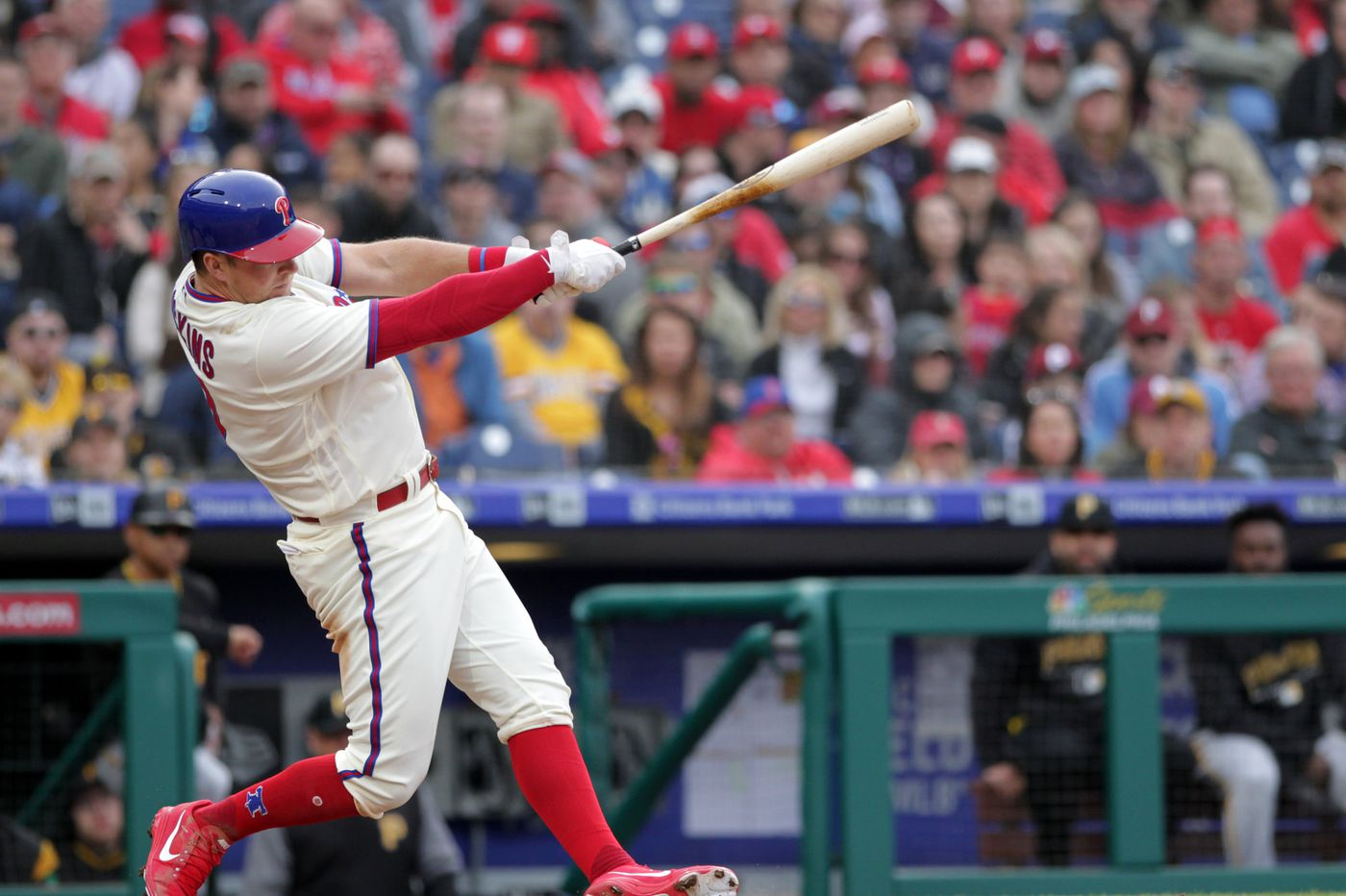 Phillies' Rhys Hoskins has set an impressive home-run pace in his first two seasons