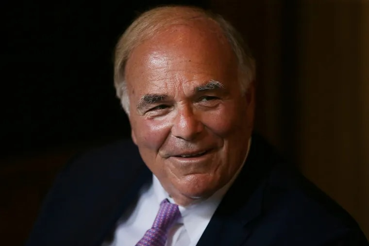 Former Gov. Ed Rendell announces he has Parkinson's disease during a news conference at Pennsylvania Hospital in Philadelphia, PA on June 18, 2018.