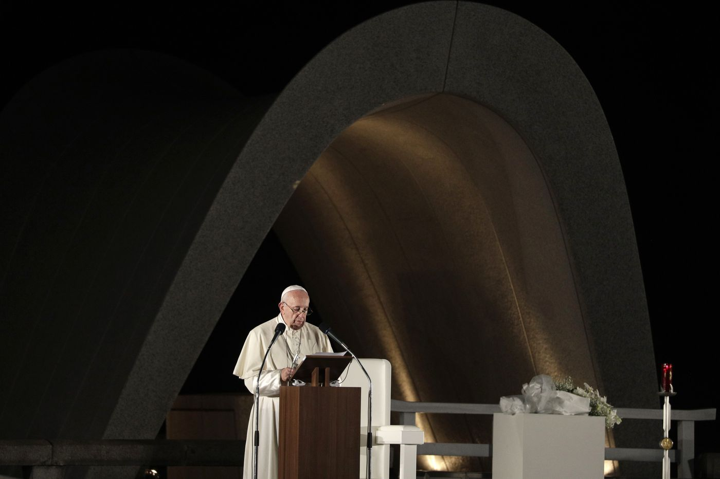 Pope Francis calls for a world free from nuclear weapons; that was once a controversial idea