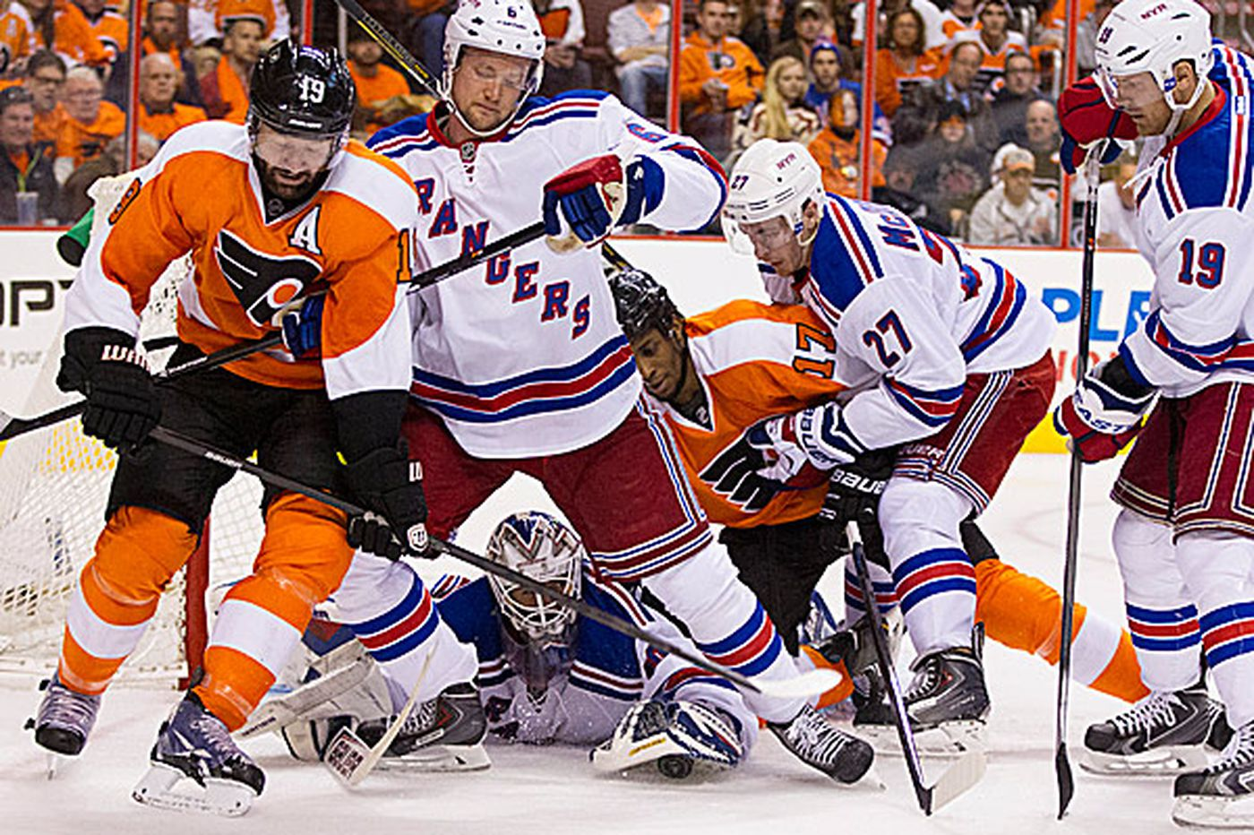 Can Flyers spoil Rangers' block party?