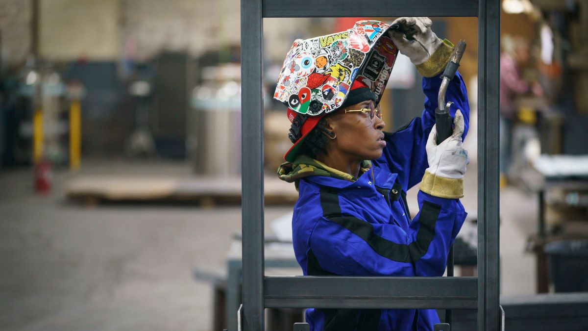 Welder, Pa'Trice Frazie, thrives in a field dominated by men