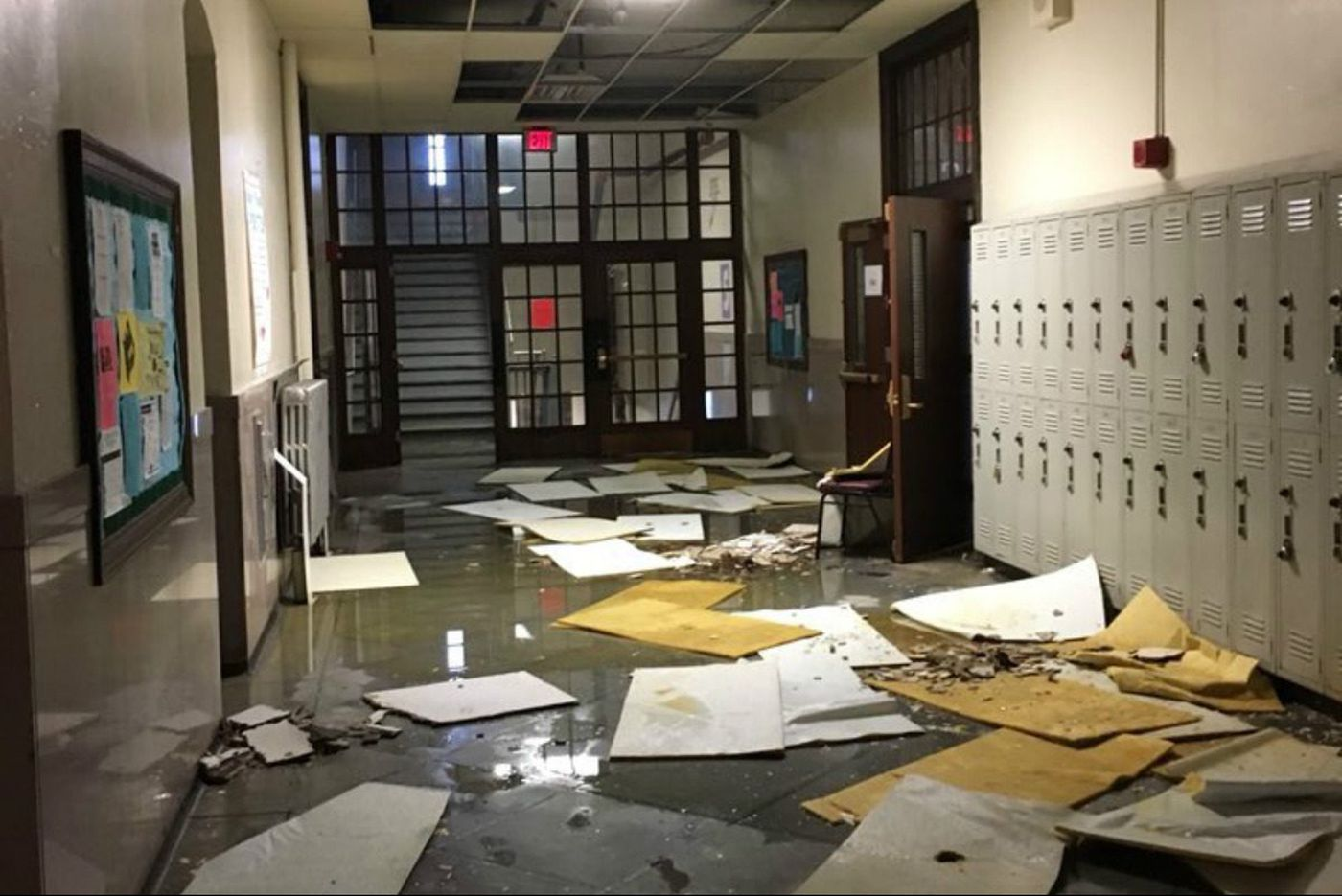 Days of rain cause major flooding, ceiling collapse at a S. Philly HS