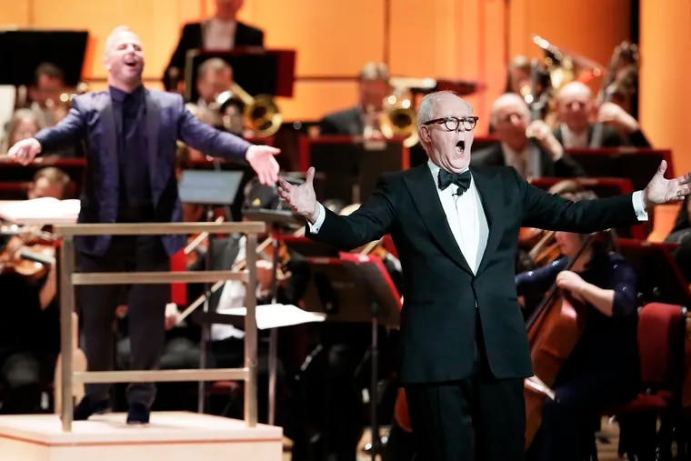 Special guest John Lithgow, music Dir. Yannick Nézet-Séguin and the Philadelphia Orchestra perform during the 163rd Academy of Music Anniversary Concert and Ball at the Academy of Music in Phila., Pa. on January 25, 2020.