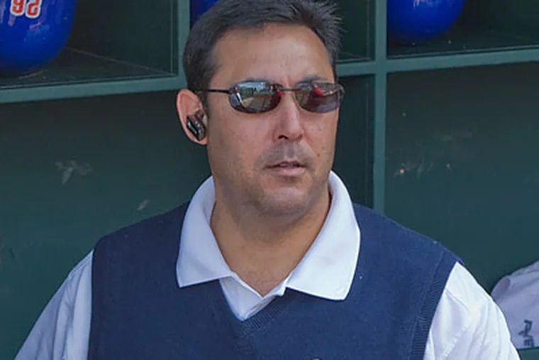 Phillies general manager Ruben Amaro Jr. has been quite busy during baseball's Winter Meetings in Indianapolis. (David M Warren/Staff file photo)