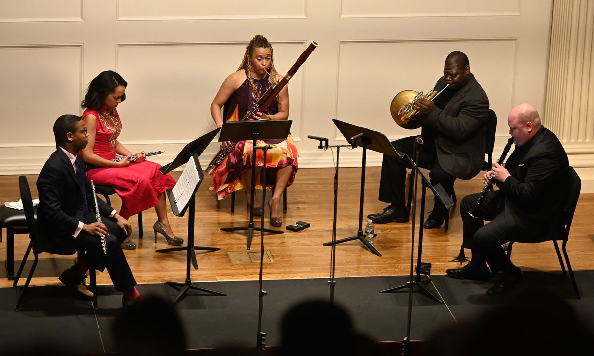 Winsome Imani Winds gives world premiere of Four Stetches by Penn professor James Primosch