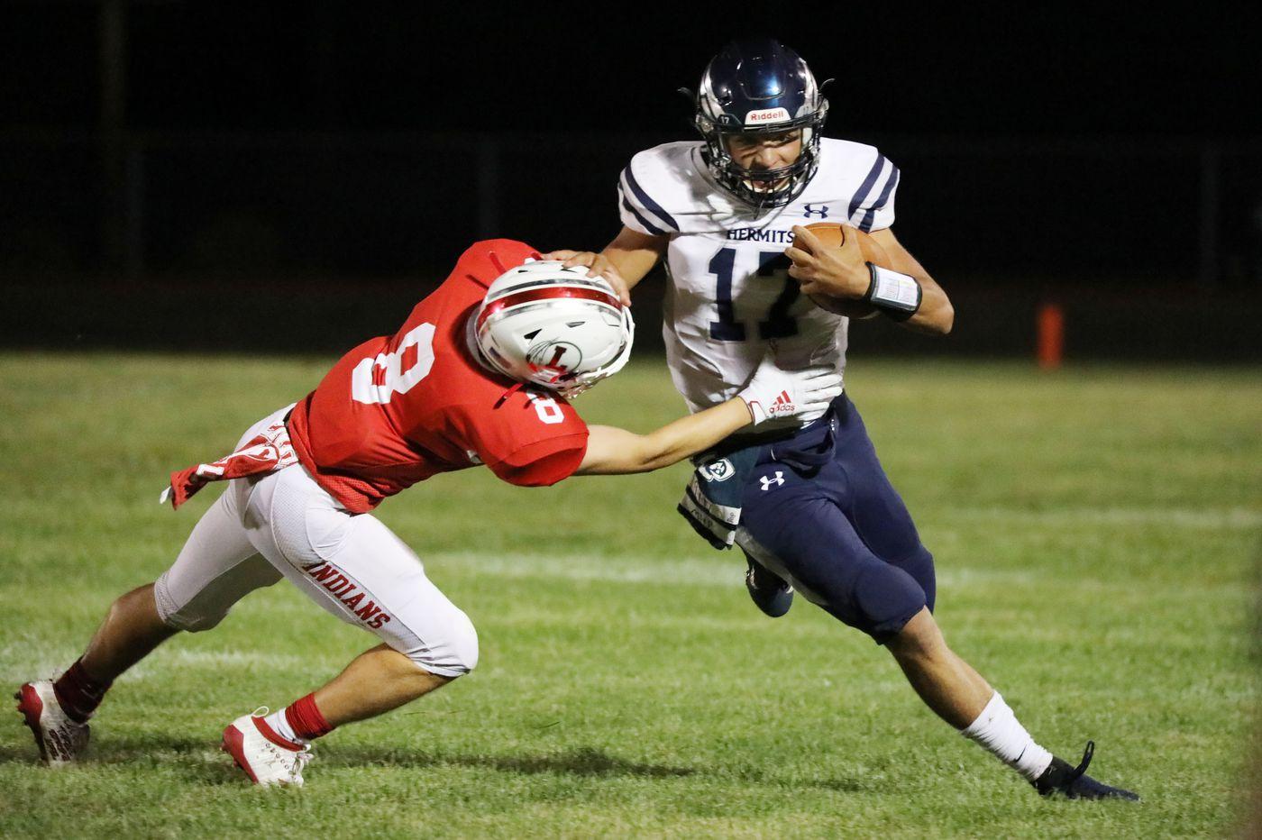 St. Augustine quarterback Austin Leyman is showing his potential