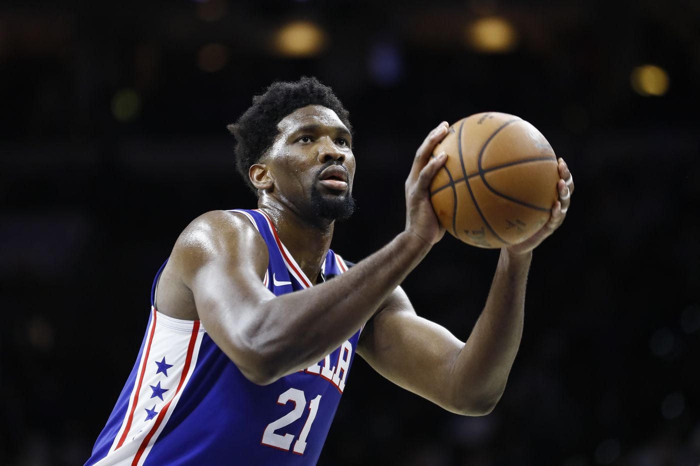 Sixers' Joel Embiid misses second straight scrimmage with right calf tightness