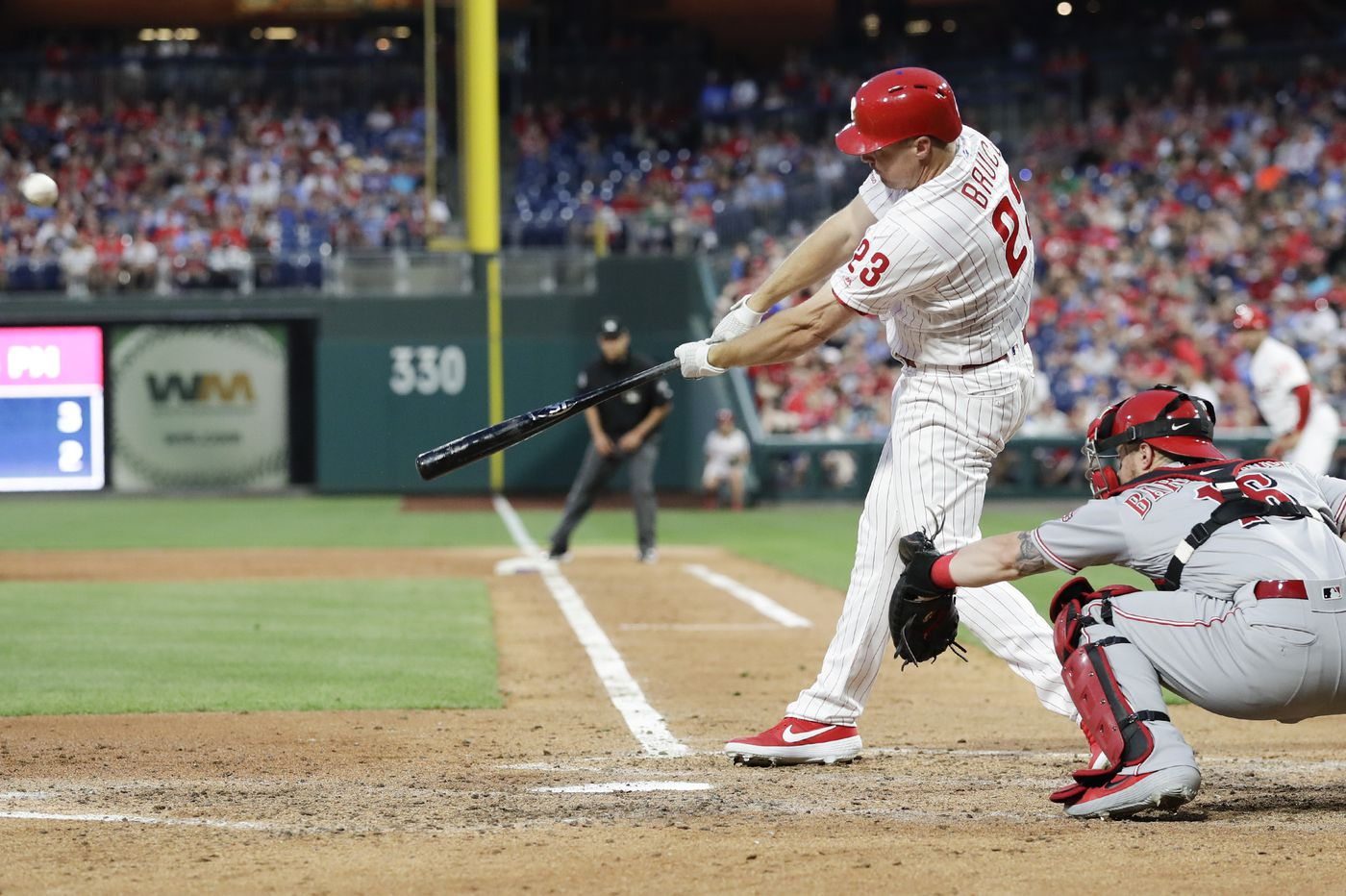 Jay Bruce comes up big — again — in Phillies' 4-2 win over Reds