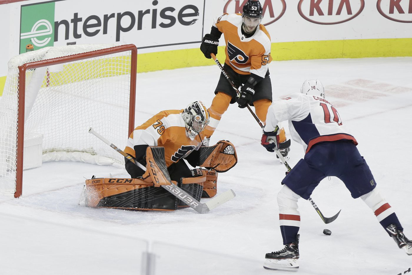 c7b3941c1d7 Flyers Carter Hart makes a save in the 2nd period of the Washington Capitals  at Philadelphia
