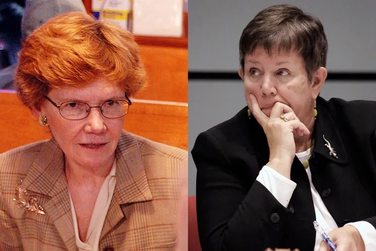 Feather Houstoun (left) and Marjorie Neff recently resigned from Philadelphia's School Reform Commission.