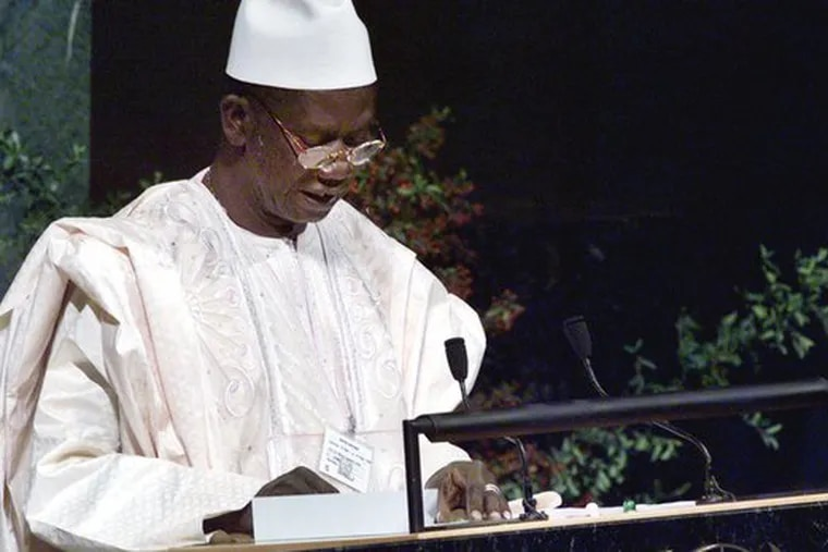 President Lansana Conte, who died Monday, addressing the United Nations in 1999. While Guinea is rich in minerals, its people are among the world's poorest.
