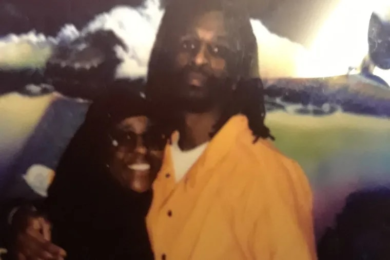 Hassan Bennett in a photo taken recently with his mother, Josette Bennett, at a state prison where he was held in Waynesburg, Greene County.