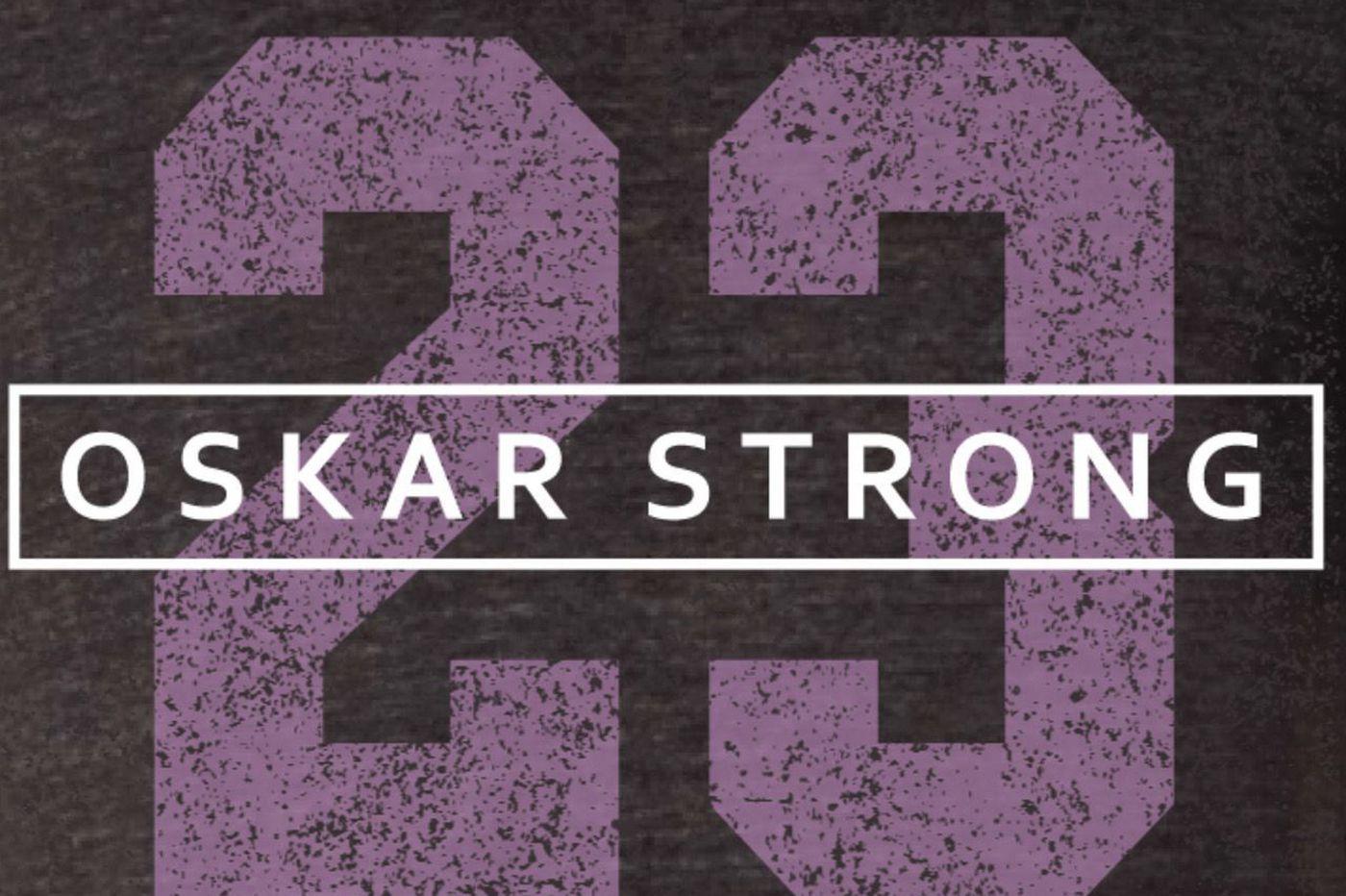 Flyers to wear T-shirts supporting Oskar Lindblom's cancer battle