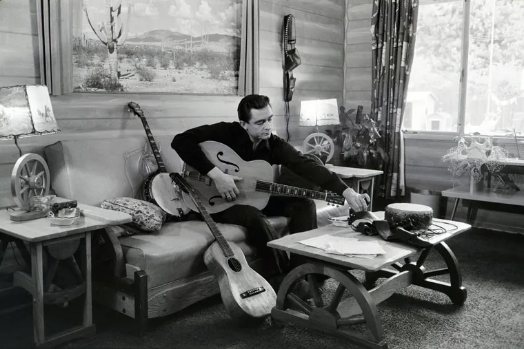 Johnny Cash, in an image from 'Country Music: A Film By Ken Burns,' the 8 part documentary that begins airing on PBS on Sept. 15.