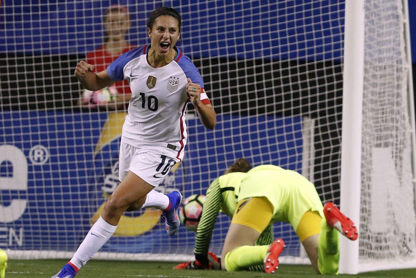 Carli Lloyd aiming at World Cup as she returns to U.S. national team