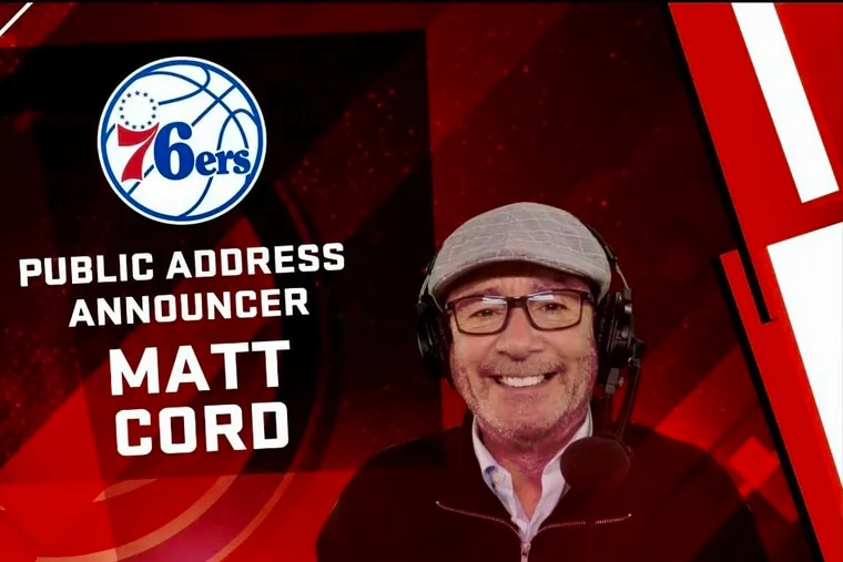 Sixers PA announcer Matt Cord featured in NBA 2K22.