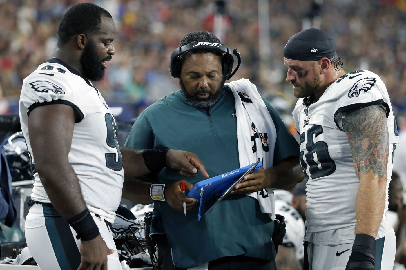 Flying coach: Eagles' Doug Pederson and Chris Wilson cherish rare chances to see sons play in college