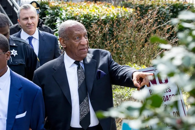 Bill Cosby exits the Montgomery County Courthouse, after a pretrial hearing in the sexual assault case in Norristown, PA, Tuesday, March 6, 2018. JESSICA GRIFFIN / Staff Photographer.