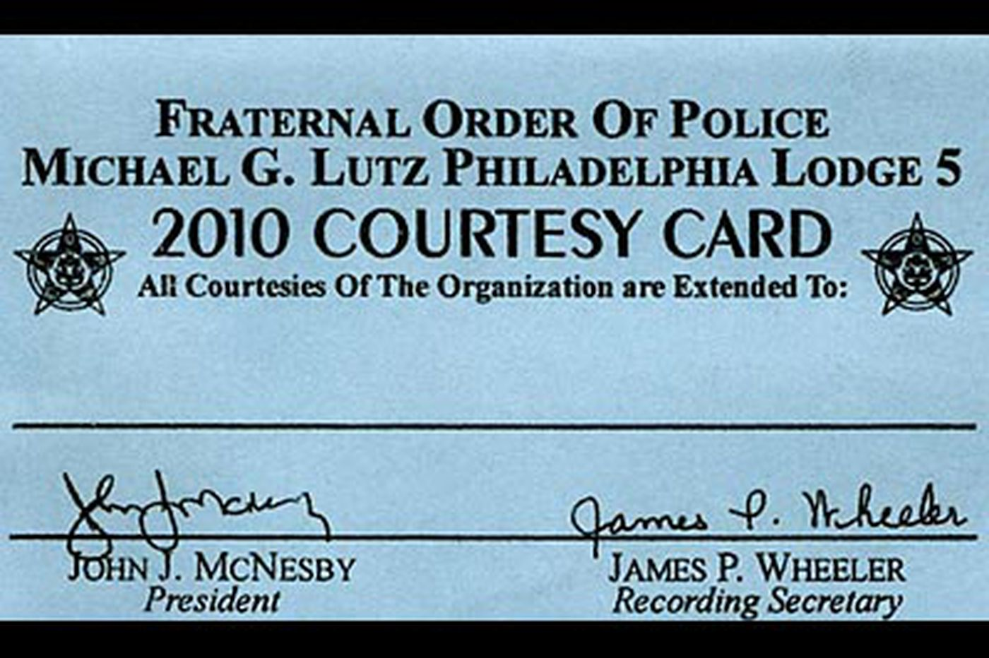 Police say don't confuse courtesy cards with a free pass