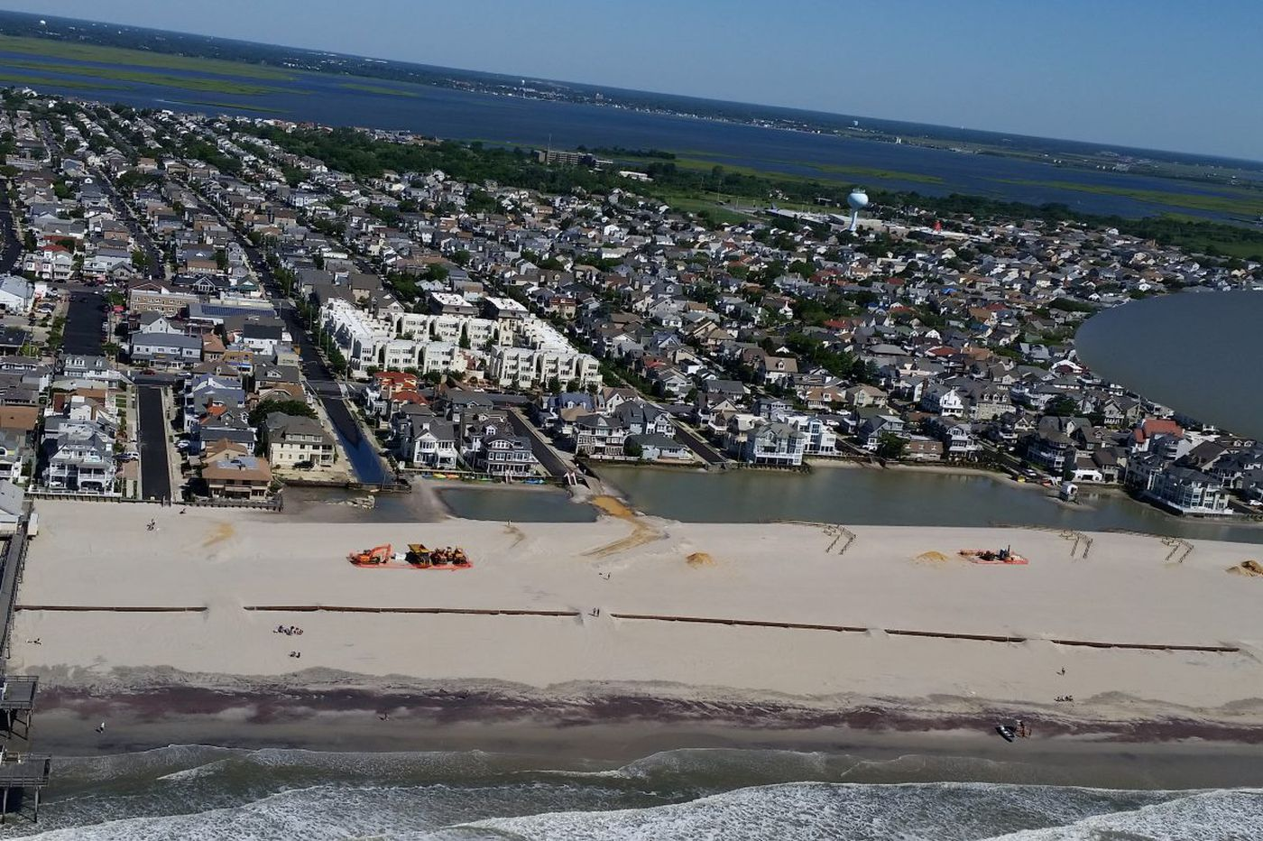 Margate in uproar over 'Lake Christie,' may go to court to halt dune work
