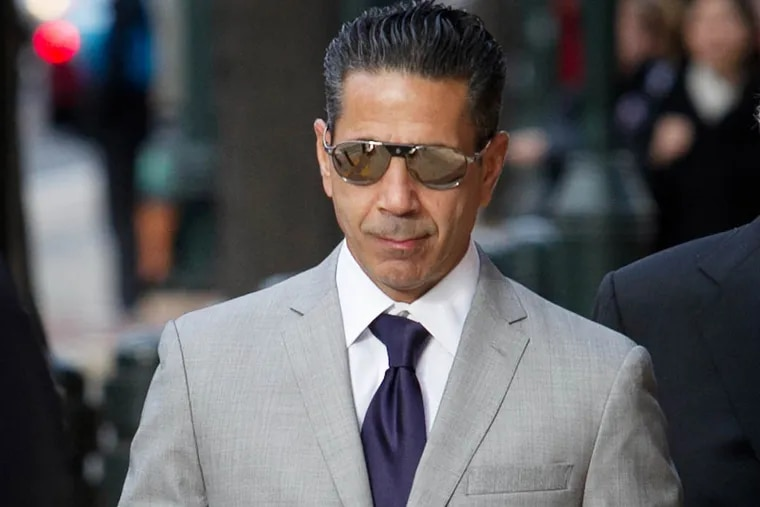 """Joseph """"Skinny Joey"""" Merlino, reputed ex-mob boss arrives at federal court in Philadelphia on Friday morning Oct 24, 2014 for hearing on parole violation. ( ALEJANDRO A. ALVAREZ / STAFF PHOTOGRAPHER )"""