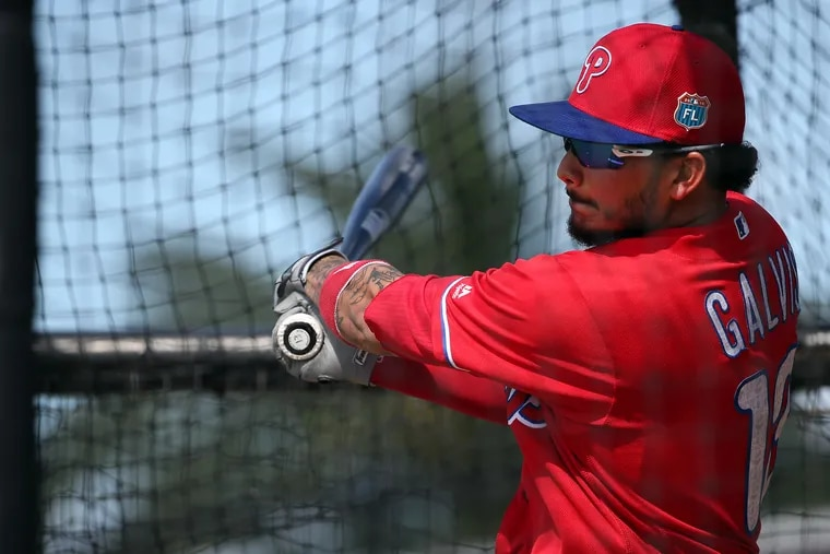 Freddy Galvis will be back in red pinstripes soon. (DAVID MAIALETTI / Staff Photographer)