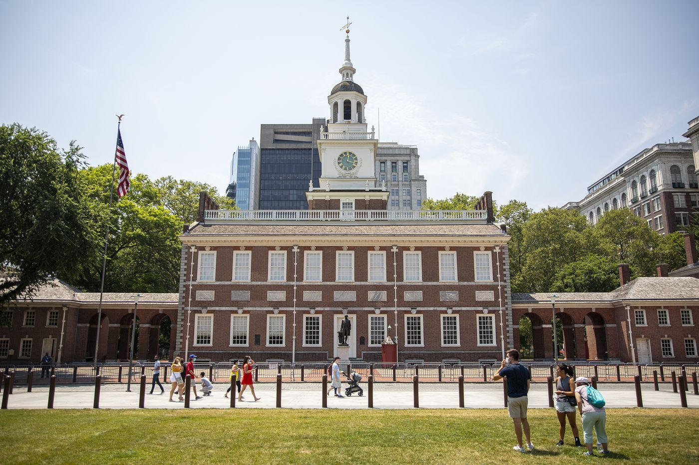 A quiet, sweaty start to the July 4th weekend in Philly