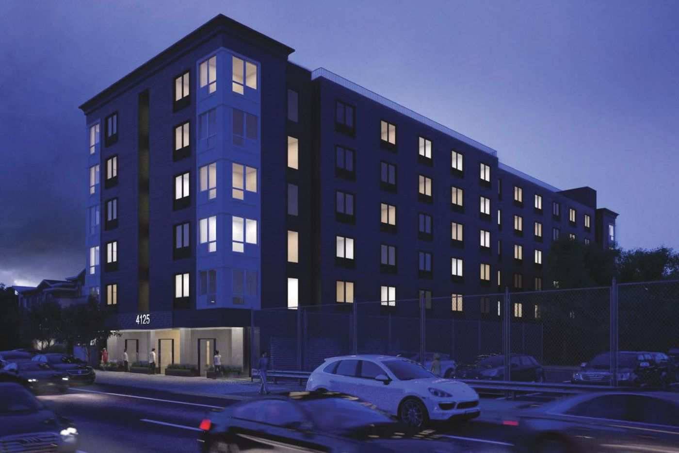 Mid-rise apartment proposal replaces tower plan for University City car wash site