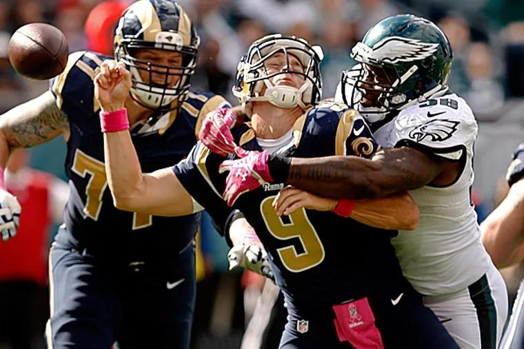 Eagles linebacker Trent Cole. (Ron Cortes/Staff Photographer)