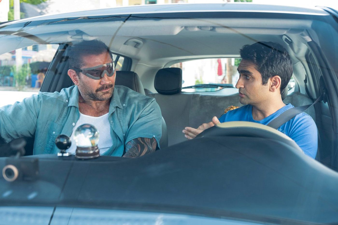 Dave Bautista and Kumail Nanjiani talk about their smokin' '80s action comedy revival 'Stuber'